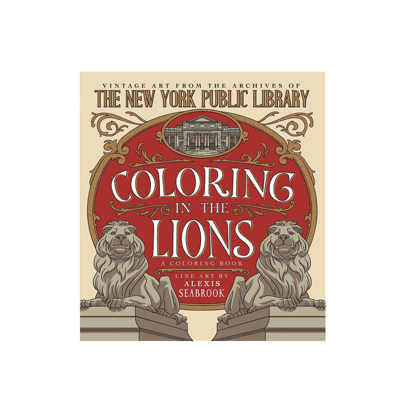 Coloring In The Lions Vintage Art From Archives Of New York P Public Library Shop