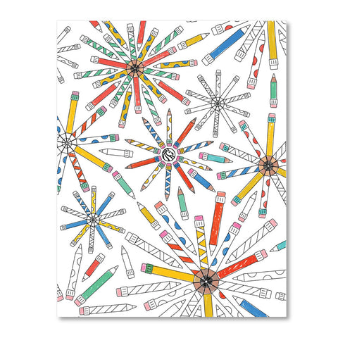 Printable Coloring Page : Pencils