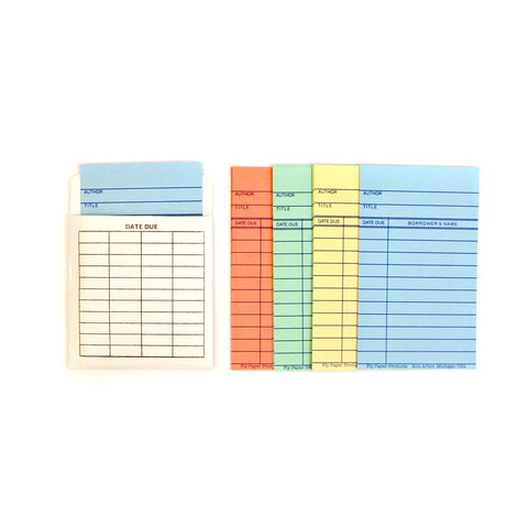Magnetic Library Card Notecards
