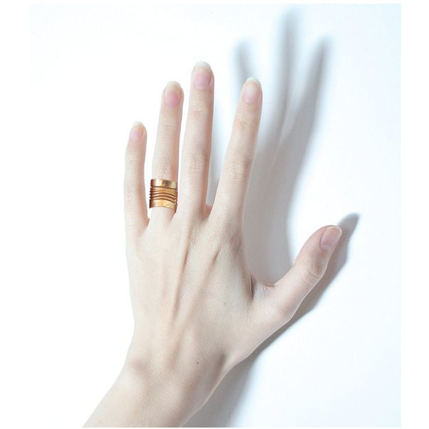 Adjustable Striped Ring