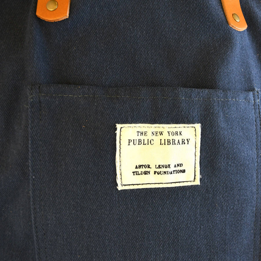 Navy Vintage NYPL Stamp Tote Bag - The New York Public Library Shop