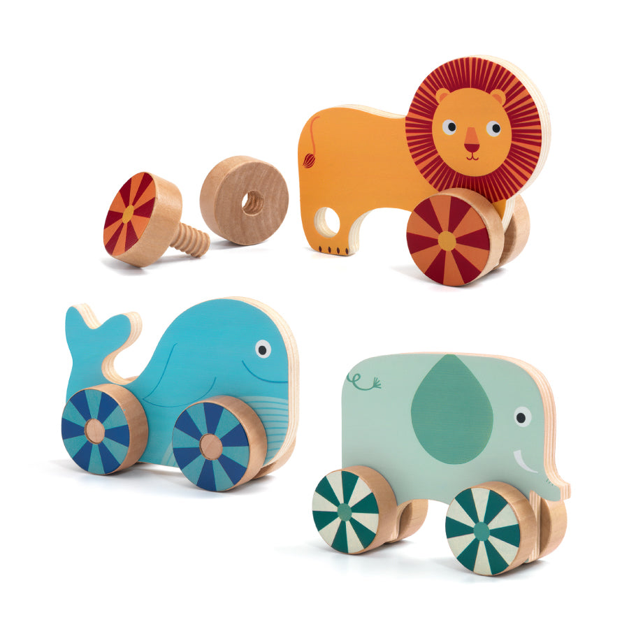 Vis n' Roll Activity Toy: Rolling Animal Set