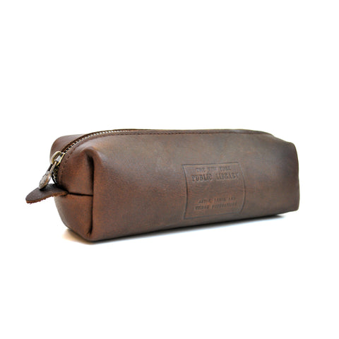 Leather NYPL Stamp Zip Case