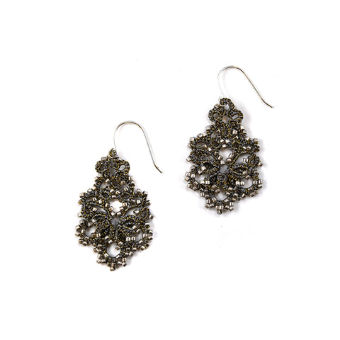 Lace Earrings: Concrete Dina