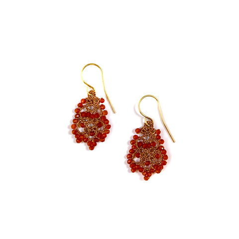 Lace Earrings: Carnelian Dora