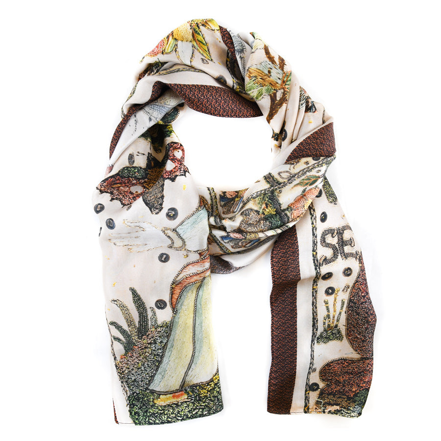 Psalms Oblong Silk Scarf - The New York Public Library Shop