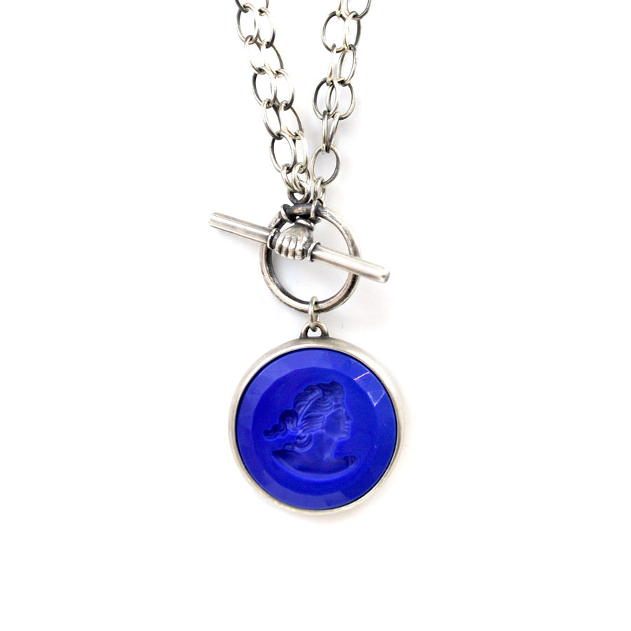 Lapis Convertible Toggle Necklace