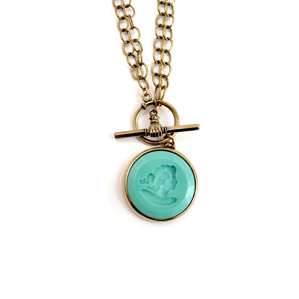 Mint Convertible Toggle Necklace