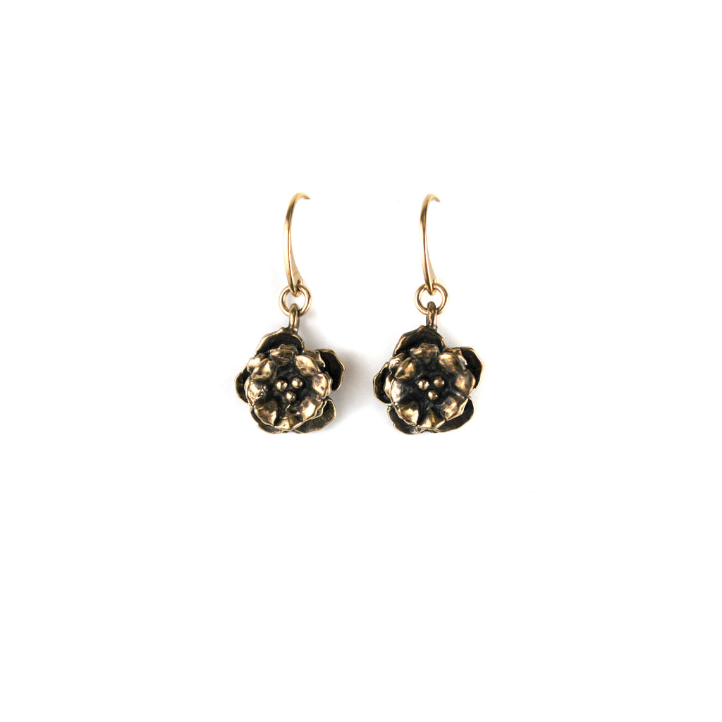 Rose Main Reading Room Rosette Earrings - The New York Public Library Shop