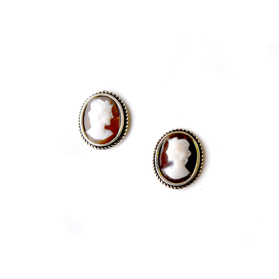 Profile Cameo Earrings - The New York Public Library Shop