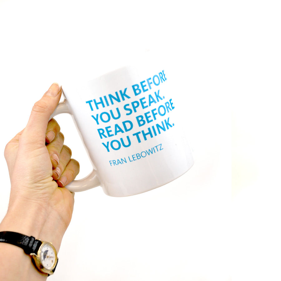Jumbo NYPL Lebowitz Quote Mug - The New York Public Library Shop