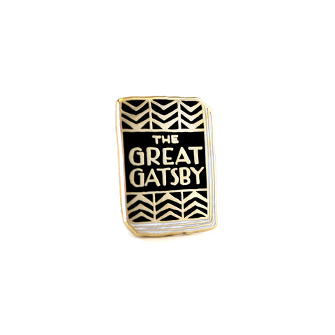 Great Gatsby Enamel Book Pin