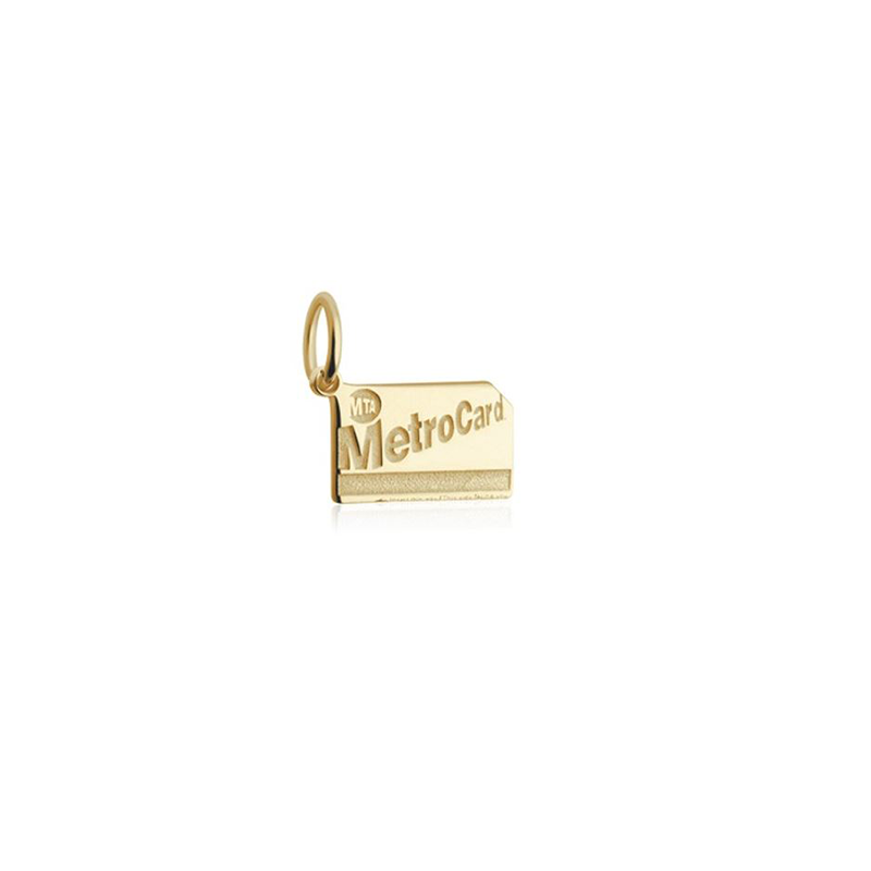 14k Gold Metro Card Charm - The New York Public Library Shop