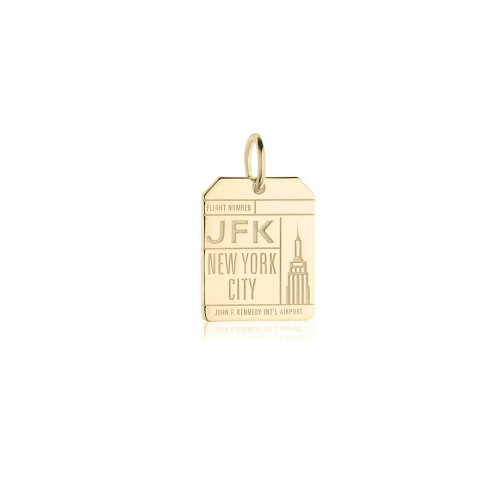 JFK Luggage Tag Card Charm - The New York Public Library Shop
