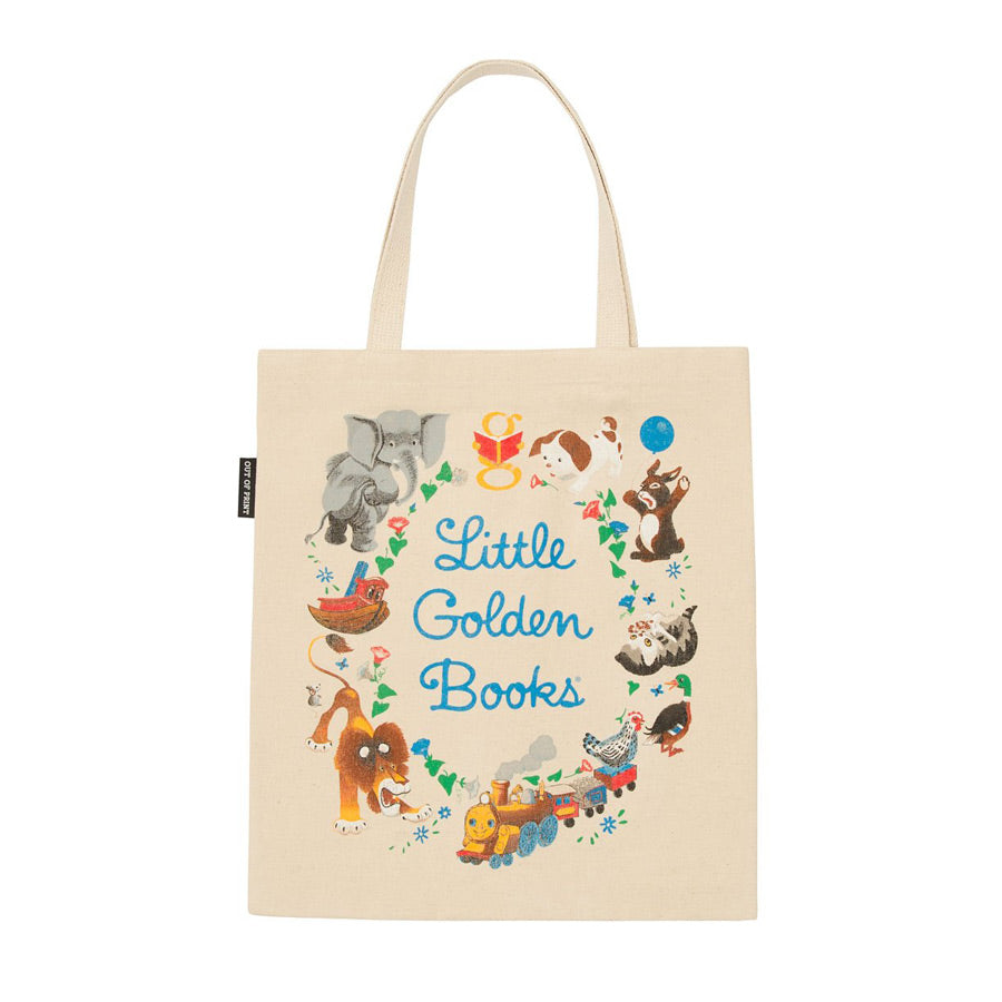 illustration on a light beige background tote.