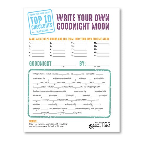 Write Your Own Story: Goodnight Moon