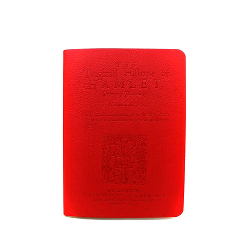 Leather Red notebook with Hamlet embossed on cover