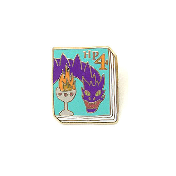 Harry Potter 4 Book Pin - The New York Public Library Shop