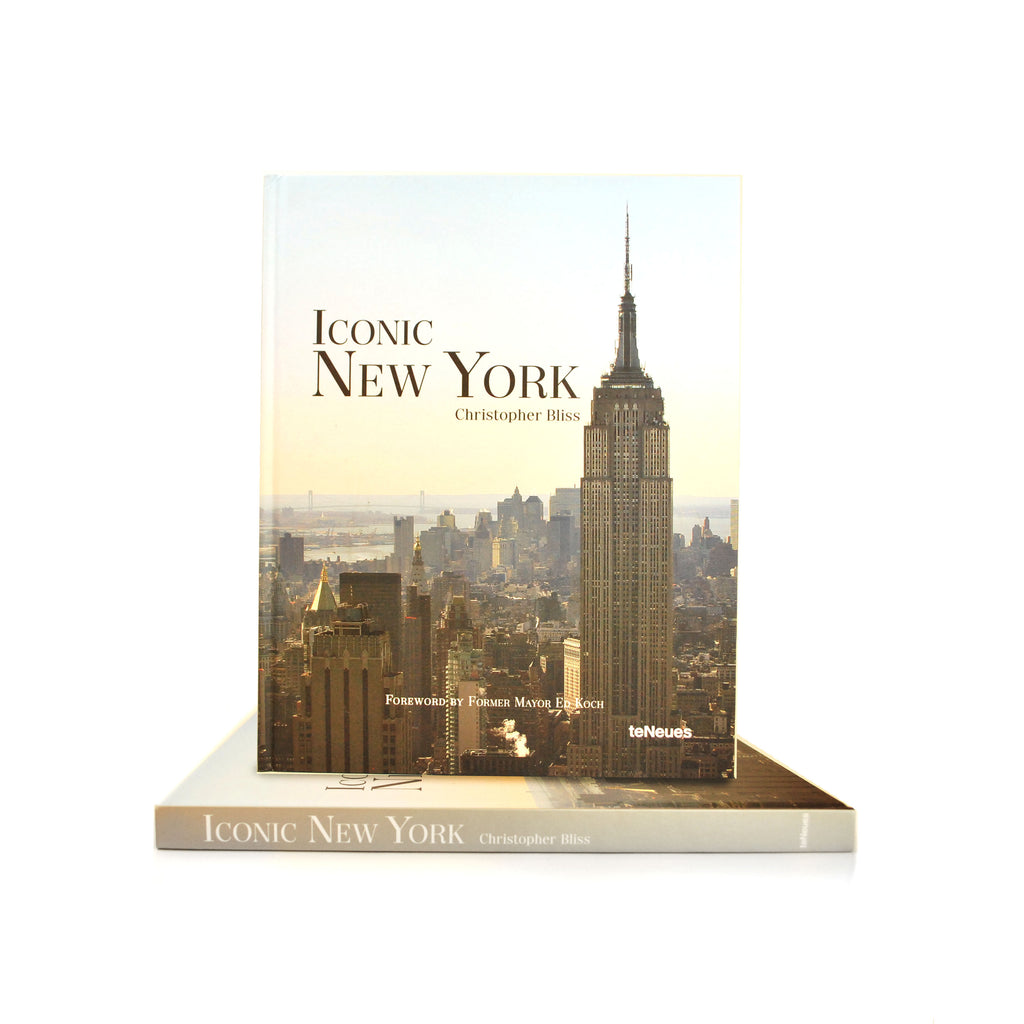 Photograph featuring the Empire State building with the rest of the city on the background as the cover. Title is on the left, top corner.