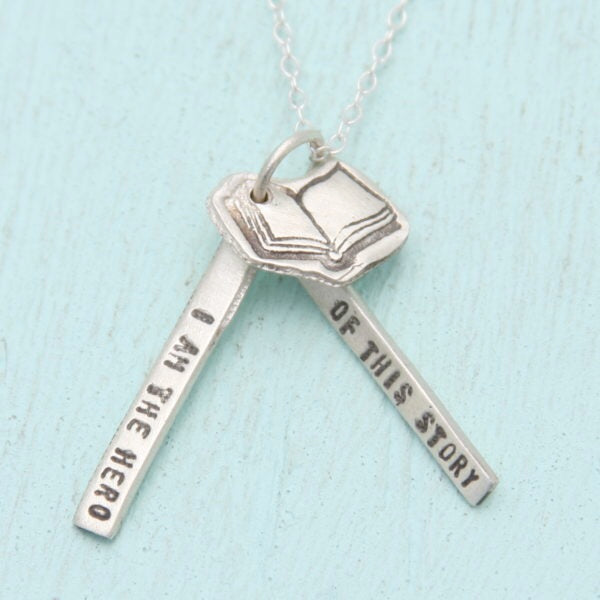I am the Hero Quote Necklace - The New York Public Library Shop
