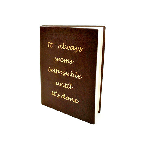 Seems Impossible Leather Journal