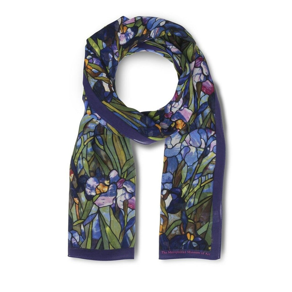 Louis C. Tiffany Irises Scarf - The New York Public Library Shop