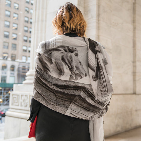 The New York Public Library Lion Scarf - The New York Public Library Shop