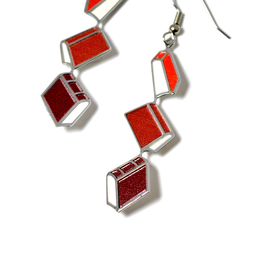Bronte Book Earrings - The New York Public Library Shop