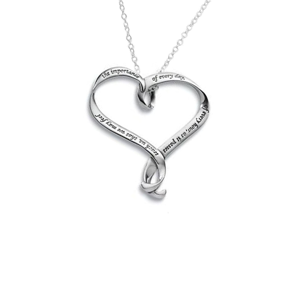 Jane Austen Heart Necklace