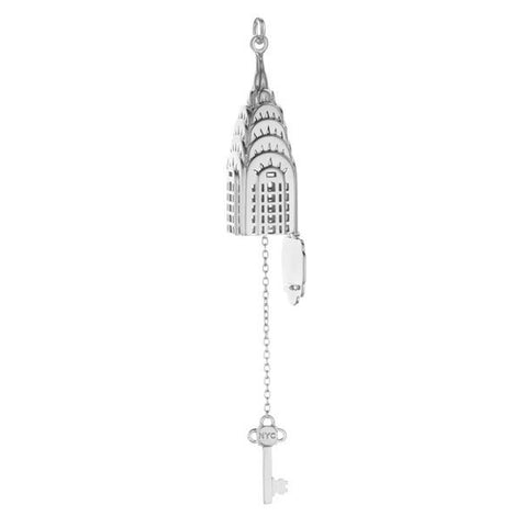 Silver Chrysler Building Charm