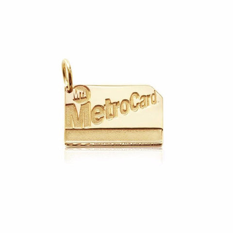 Gold Metro Card Charm
