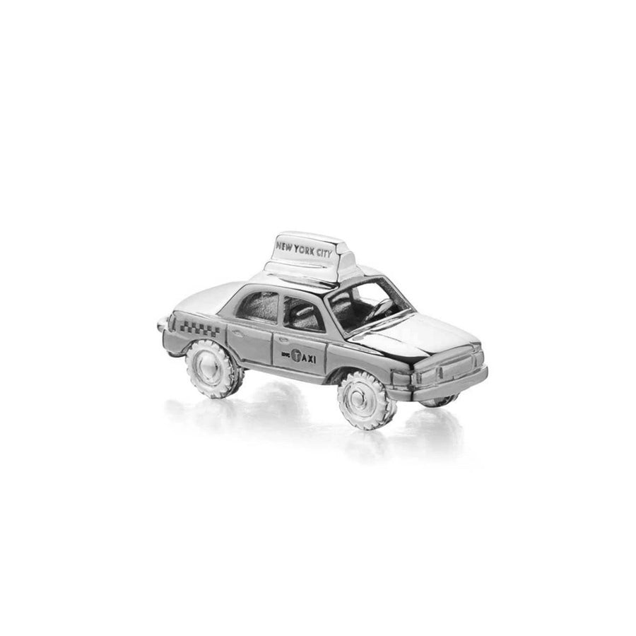 Silver Taxi Charm