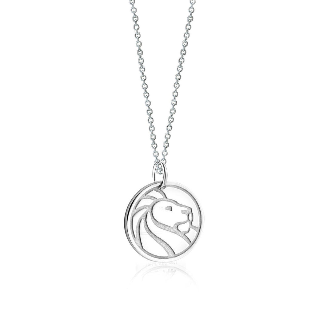 Silver NYPL Lion Charm Necklace - The New York Public Library Shop