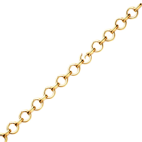 NYPL and NYC Gold Infinity Charm Bracelet - The New York Public Library Shop