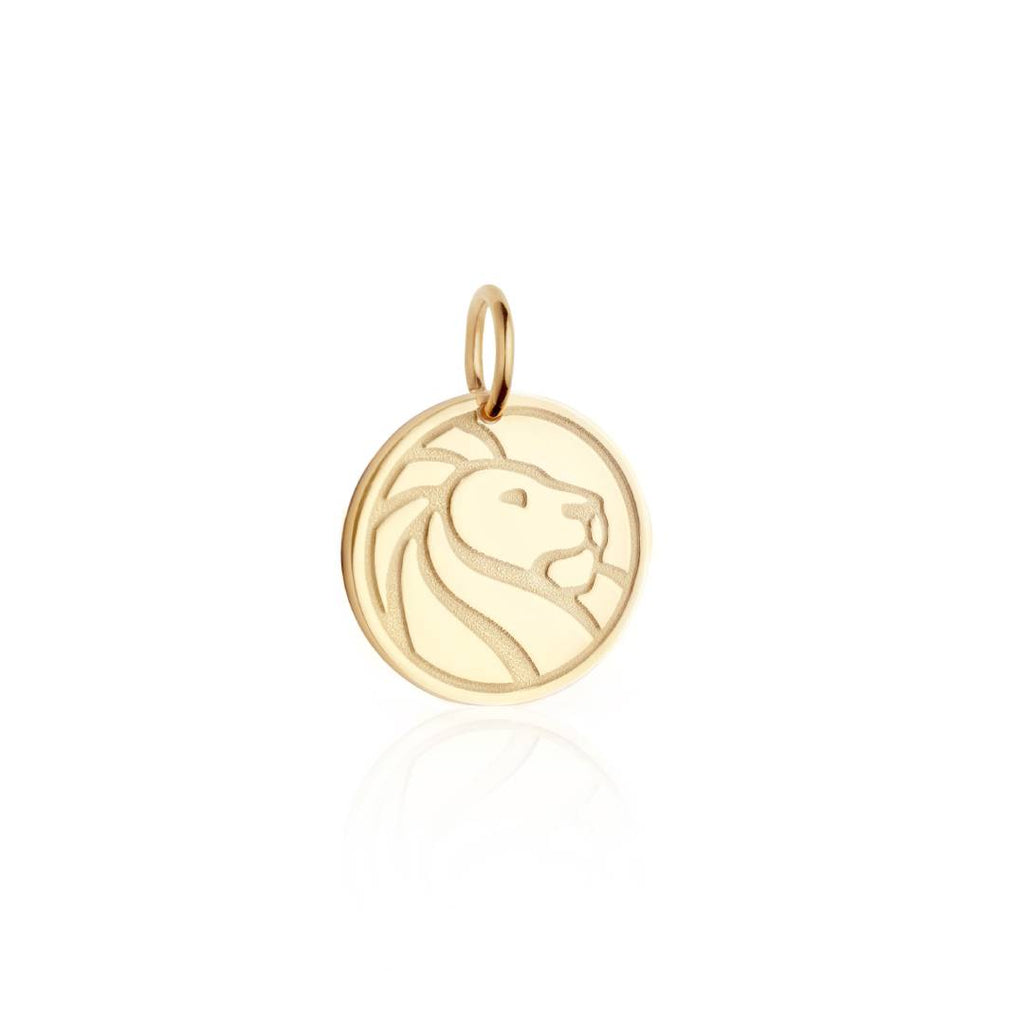 Solid 14K Gold NYPL Lion Charm