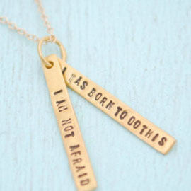 Joan of Arc Quote Necklace - The New York Public Library Shop
