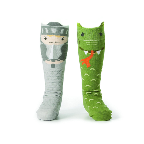 Knight and Dragon Storytime Kids Socks
