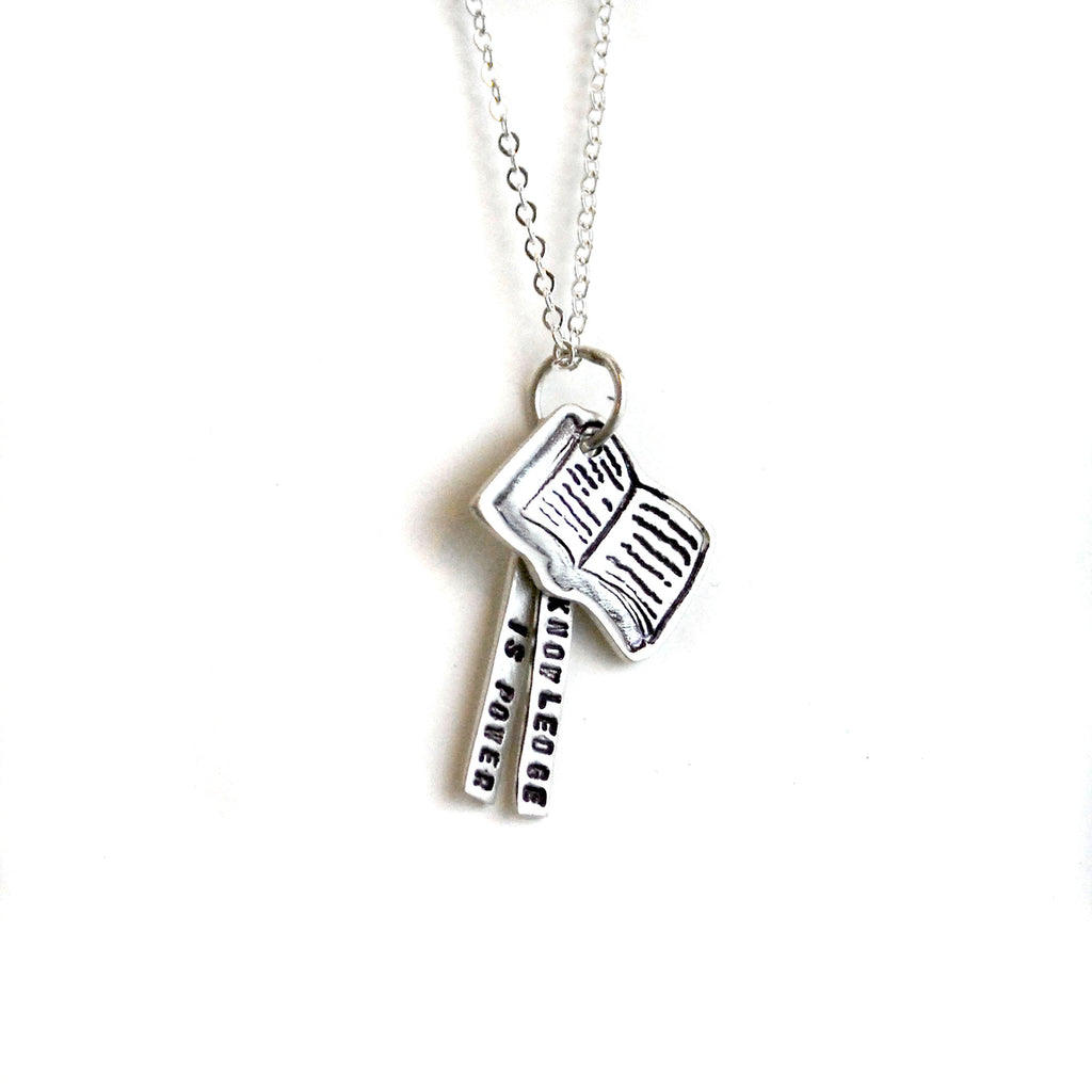 Knowledge is Power Quote Necklace - The New York Public Library Shop