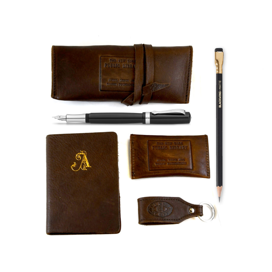 Leather NYPL Gift Set