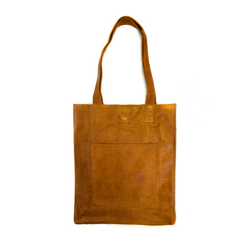 Leather Tote Bag: Saddle - The New York Public Library Shop