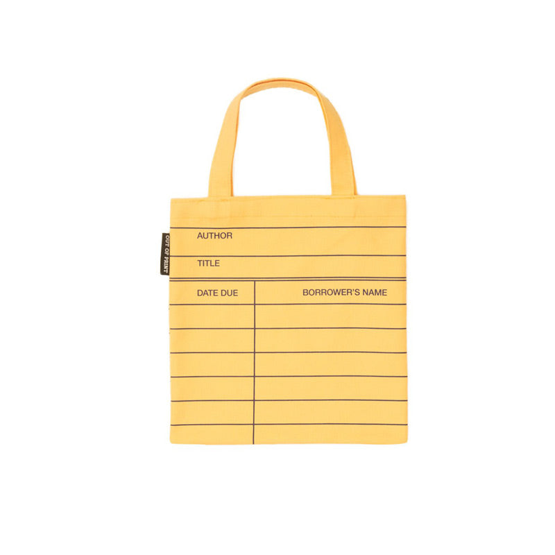Mini Yellow Library Card Bag - The New York Public Library Shop