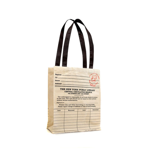 NYPL Library Card Tote Bag - The New York Public Library Shop