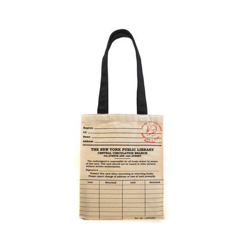 NYPL Library Card Tote Bag