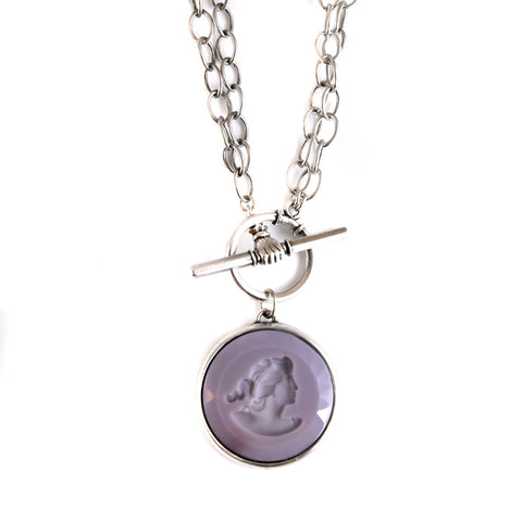Lilac Convertible Toggle Necklace