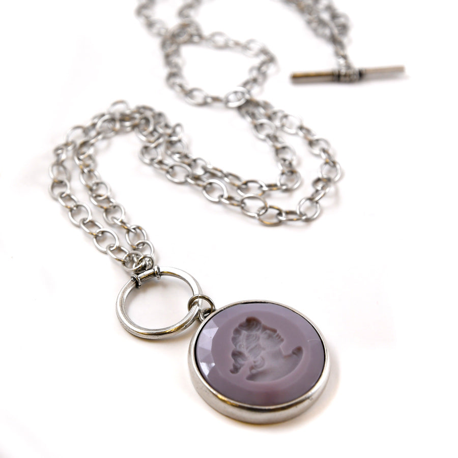 Lilac Convertible Toggle Necklace - The New York Public Library Shop