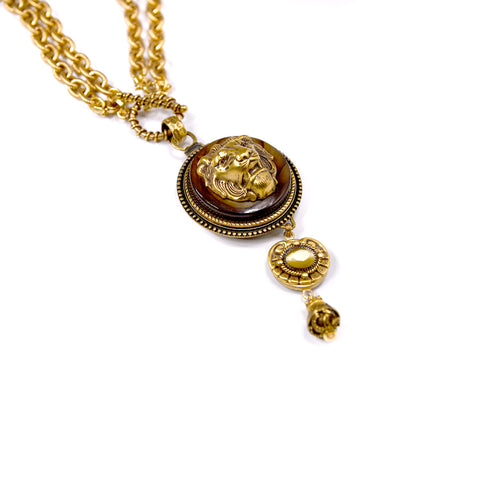 Amber Lion Drop Necklace - The New York Public Library Shop