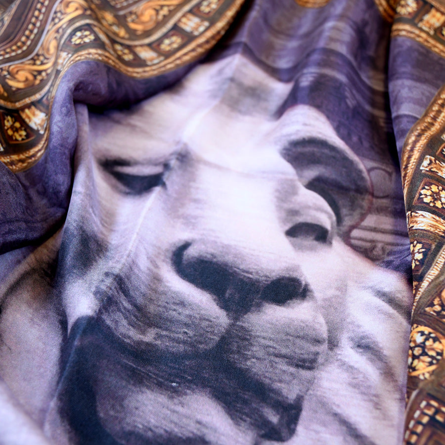 NYPL Lion Silk Scarf - The New York Public Library Shop