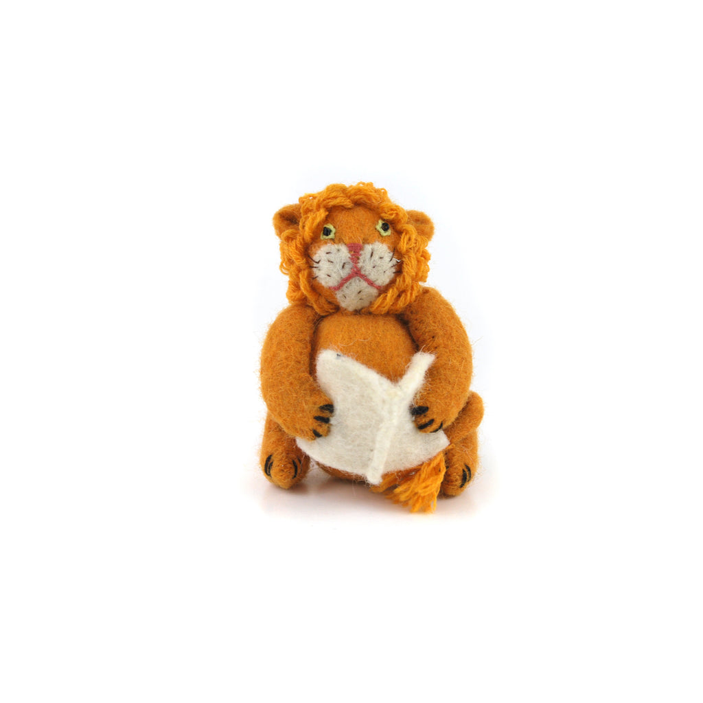 Felt Library Lion Ornament