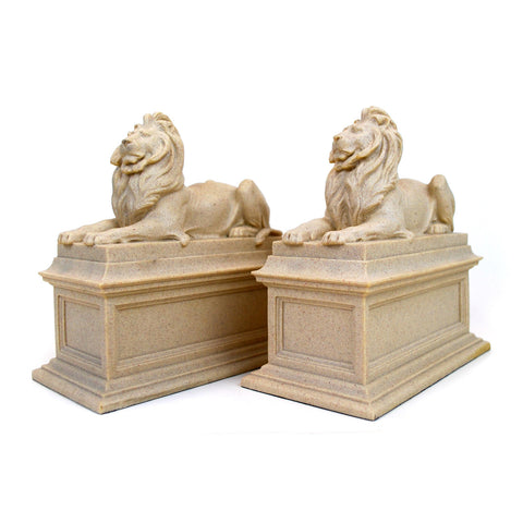 Library Lion Bookends