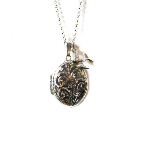 Engraved Locket Necklace